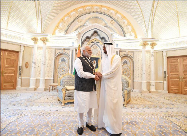 تقدیم بلندترین نشان افتخار امارات متحده عربی به نخست وزیر هند