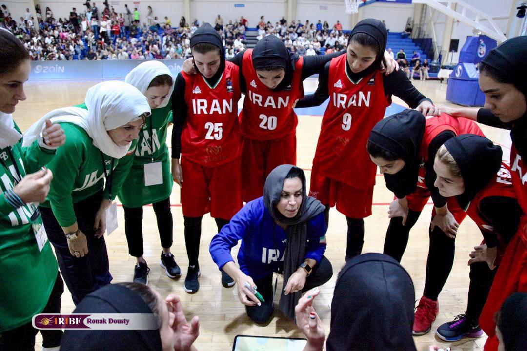 مصاف تیم ملی بسکتبال بانوان ایران و اردن در دیدار رده بندی غرب آسیا