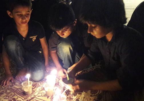 اشک ماتم عزاداران هرمزگانی در شام غریبان حسینی + تصویر