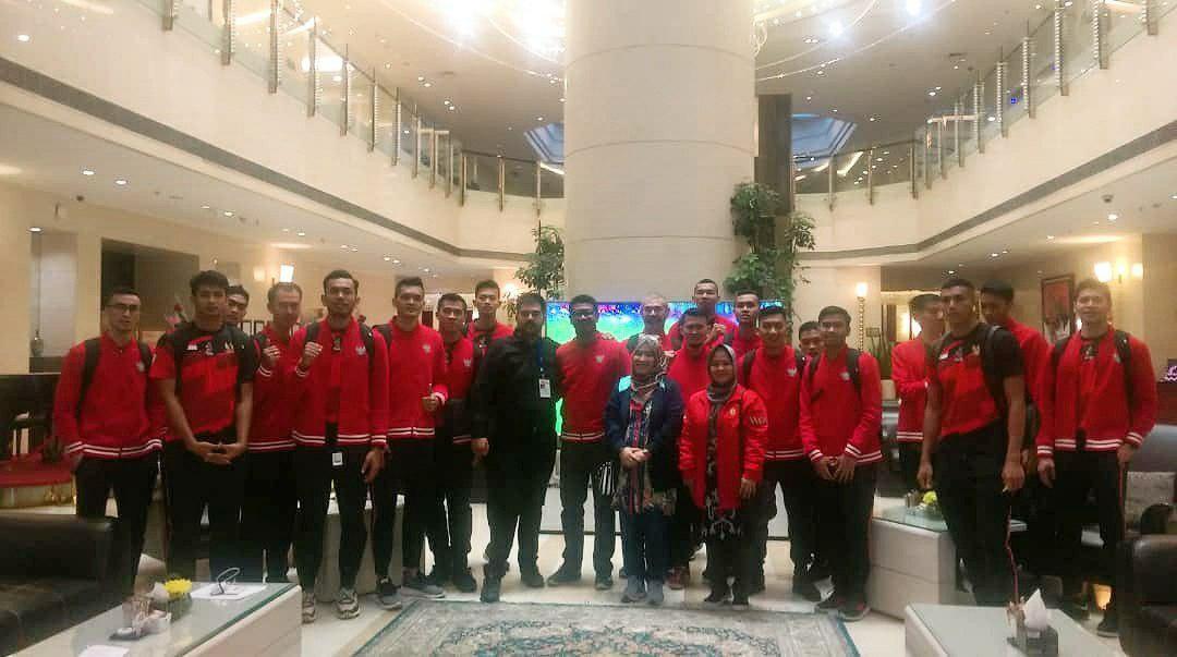 ملی پوشان والیبال اندونزی وارد ایران شدند