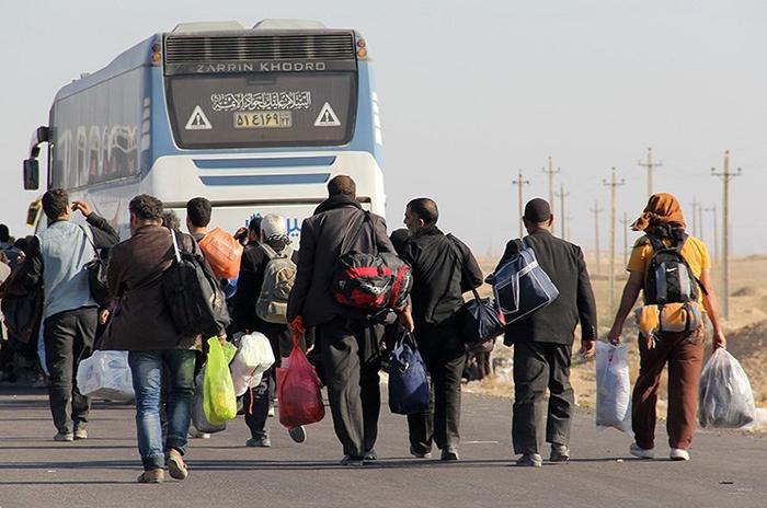 افزایش تردد وسایل نقلیه زائران حسینی از پایانه مرزی مهران