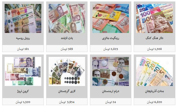 جزئیات نرخ ارز در ۹۸/۶/۱۷/ یورو ۱۲ هزار و ۶۳۹ تومان
