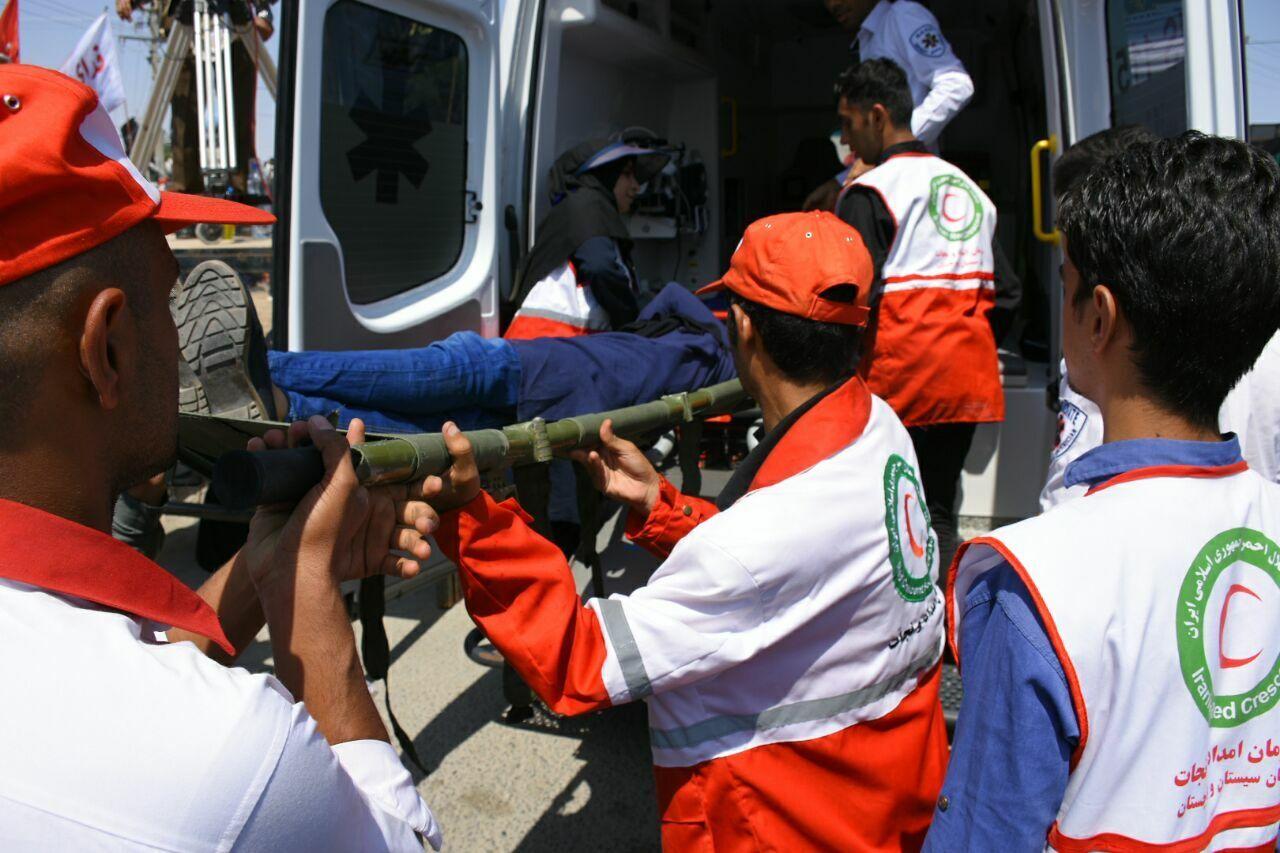 امدادگران هلال احمر سیستان و بلوچستان به ۳۱۷ حادثهدیده امدادرسانی کردند