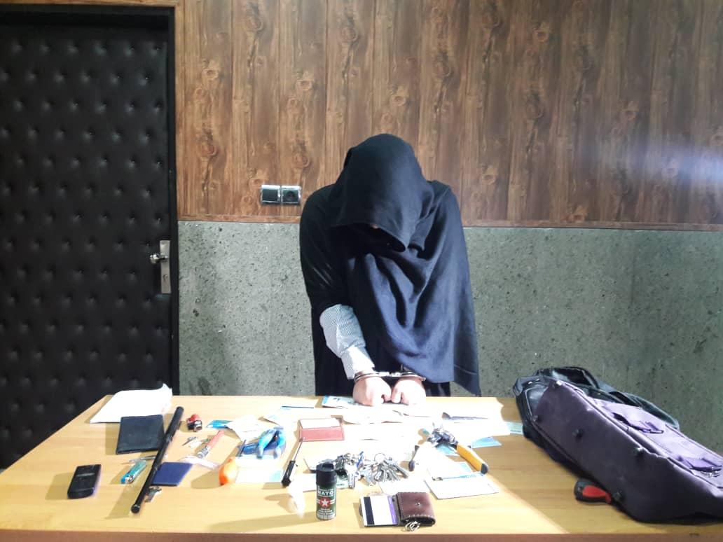 پوشیدن لباس زنانه برای سرقت از خانه زن جوان تهرانی