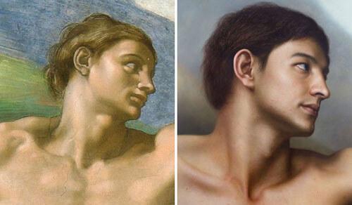 هنرمندی که شاهکارهای باستانی را به پرتره تبدیل میکند+تصاویر