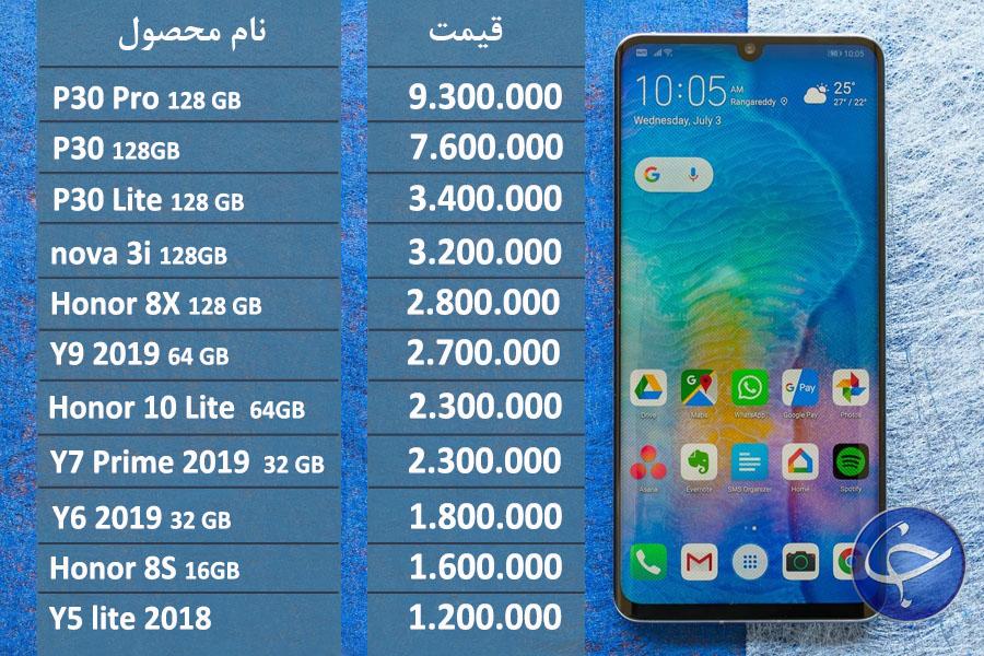 آخرین قیمت تلفن همراه در بازار (بروزرسانی ۲۳ شهریور) + جدول