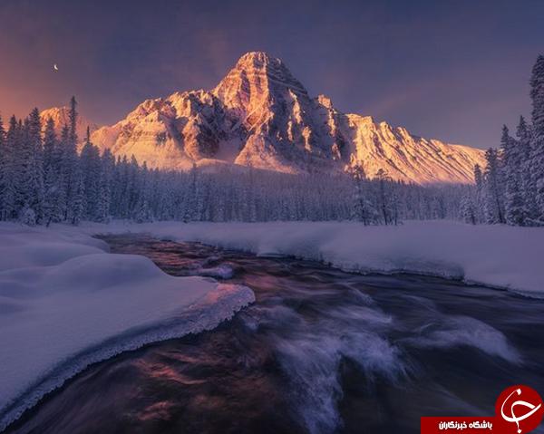 عکس منتخب نشنال جئوگرافیک از کوههای برفی راکی در کانادا