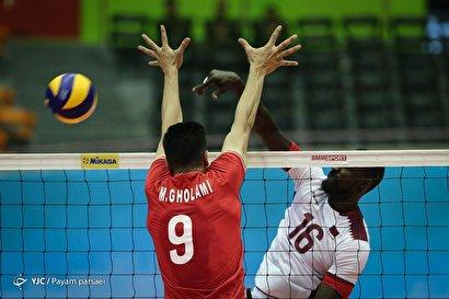 والیبال قهرمانی آسیا/ ایران ۳ - قطر ۰
