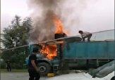 باشگاه خبرنگاران -آتش گرفتن کامیون در جاده کردکوی – گرگان + فیلم
