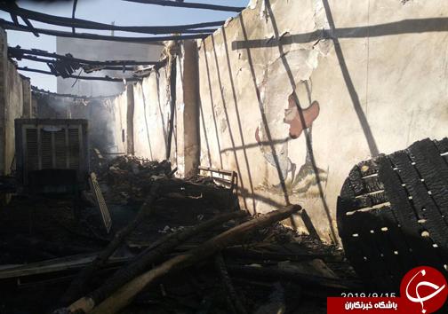 آتش سوزی در سفره خانه سنتی در زاهدان / این حادثه تلفات جانی نداشت+ عکس