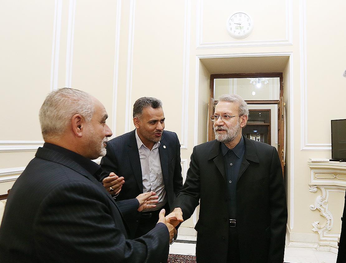 لاریجانی با فتاح و سردار سلیمانی دیدار کرد