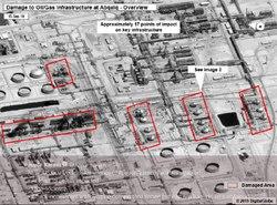 آمریکا: ۱۹ نقطه تاسیسات آرامکو هدف حمله قرار گرفته است + تصویر