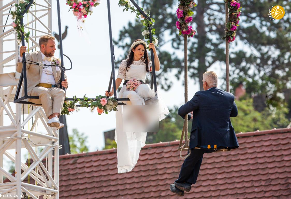 مراسم ازدواج عجیب و متفاوت عروسخانم بندباز + تصاویر