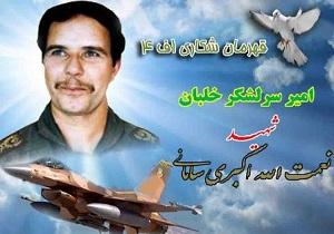 از ماکت هواپیما و المان خلبان شهید اکبری سامانی رونمایی میشود