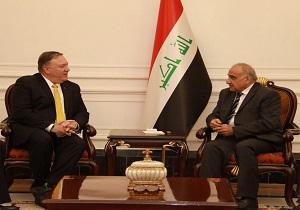 تماس تلفنی پمپئو با نخستوزیر عراق درباره حمله پهپادی اخیر به عربستان
