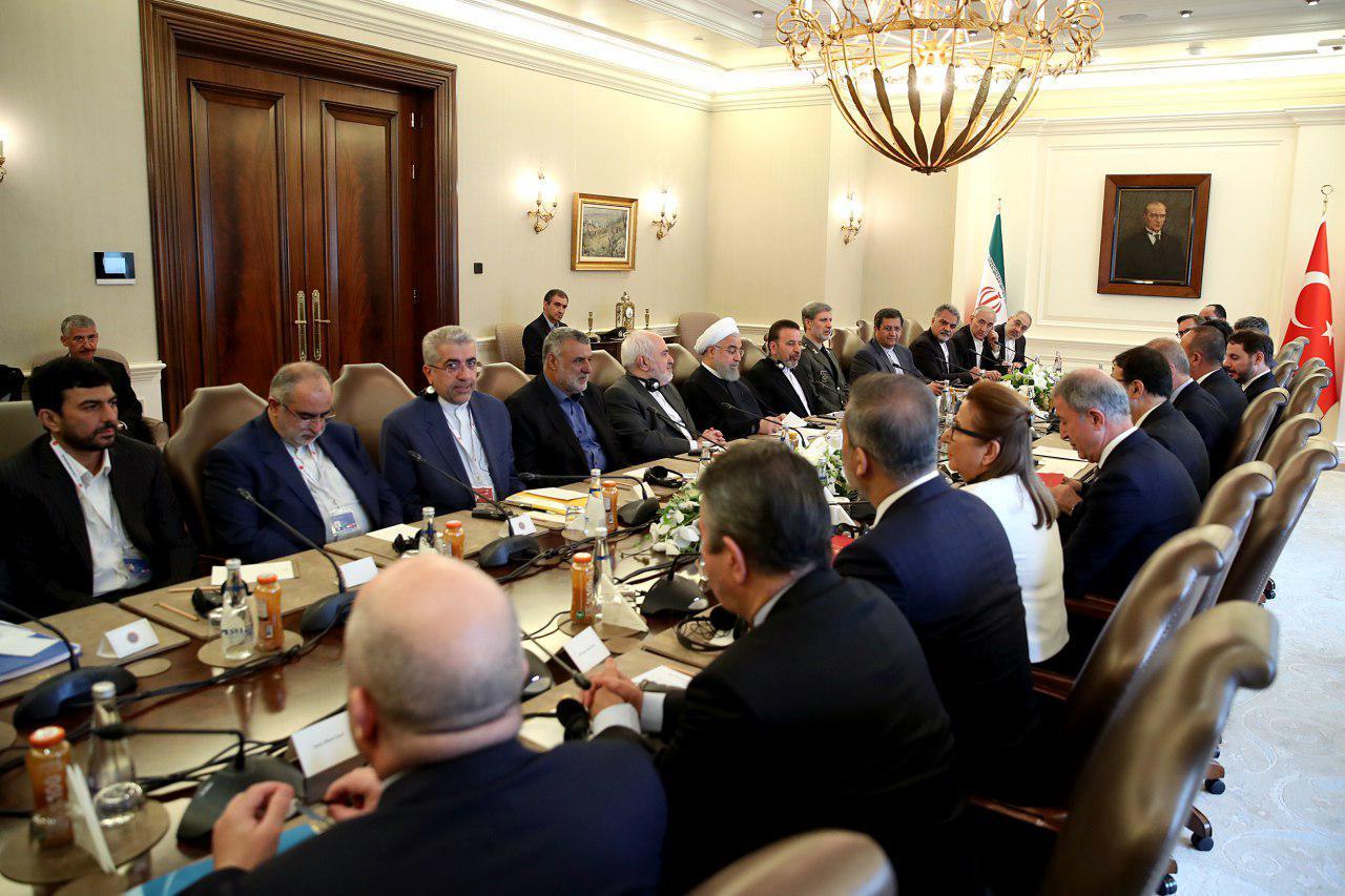 نشست مشترک هیئتهای عالی رتبه ایران و ترکیه