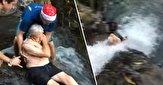 باشگاه خبرنگاران -ماجواجویی خطرناک مرد ۸۷ ساله در بالای آبشار! + فیلم