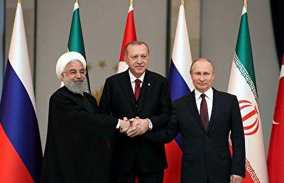عکس یادگاری روحانی، پوتین و اردوغان در آنکارا + فیلم