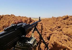 کشف پایگاه تسلیحاتی عناصر مسلح در حومه خان شیخون