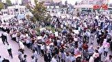 باشگاه خبرنگاران -تجمع مردم حلب در اعتراض به مداخله نظامی آمریکا و ترکیه در سوریه+ تصاویر