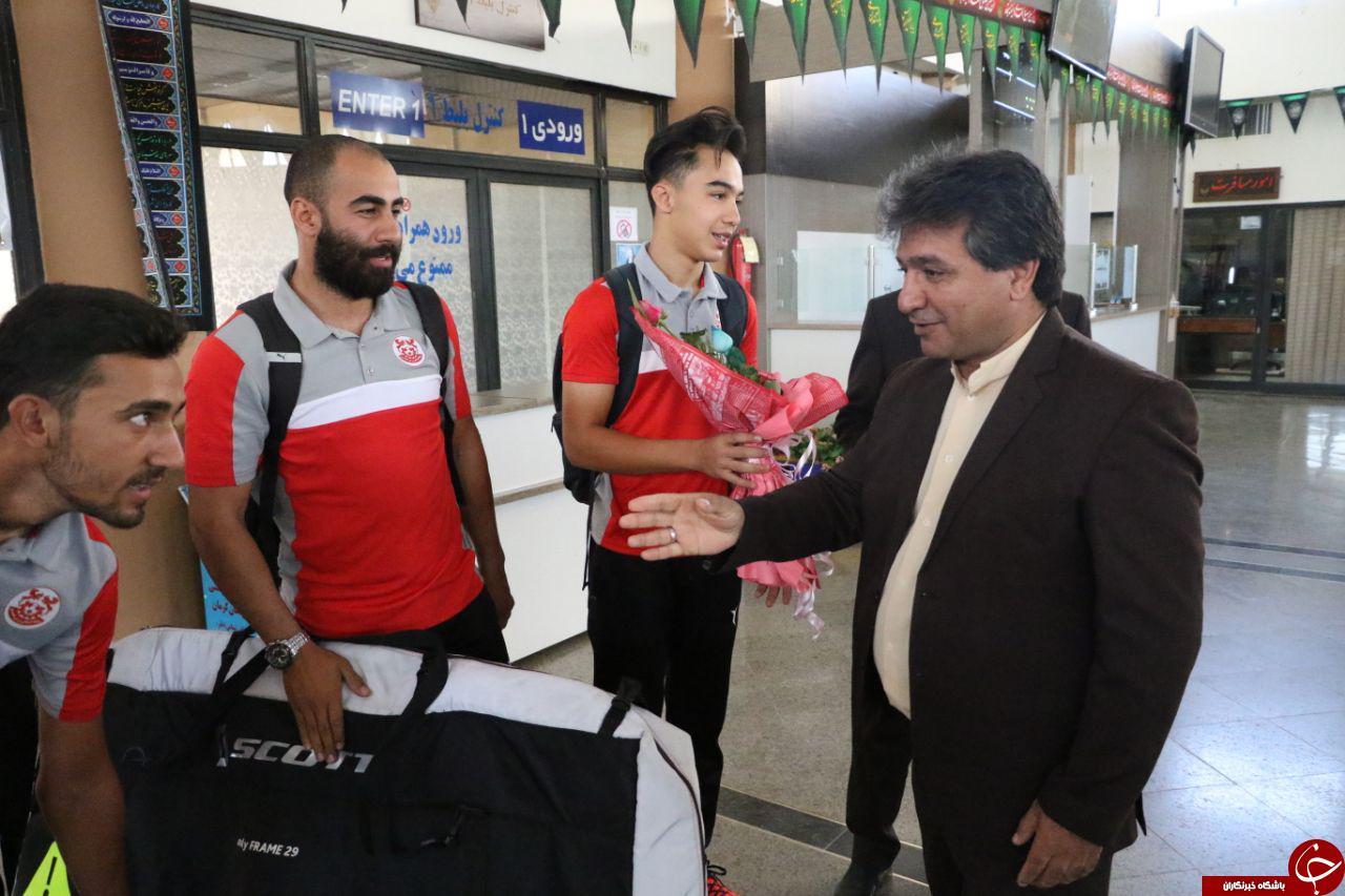 استقبال از مدال آوران مسابقات کاپ آسیایی هندوستان در کرمان + تصاویر