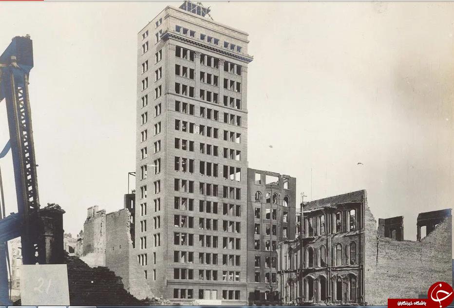 تصاویر دیده نشده از خرابی های زلزله سال ۱۹۰۶ سان فرانسیسکو آمریکا//