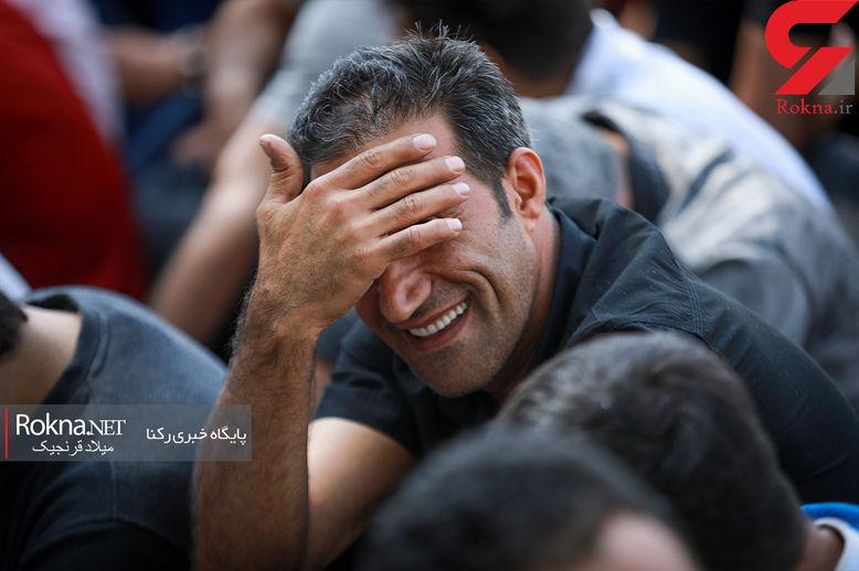 خندههای عجیب یک گنده لات تهرانی بعد از بازداشت + عکس