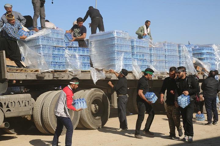 خدمت رسانی شرکت آب و فاضلاب استان ایلام به زائران اربعین