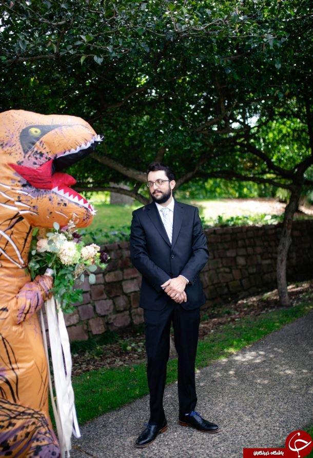 غافلگیر کردن عجیب داماد در روز عروسی توسط عروس! + تصاویر//