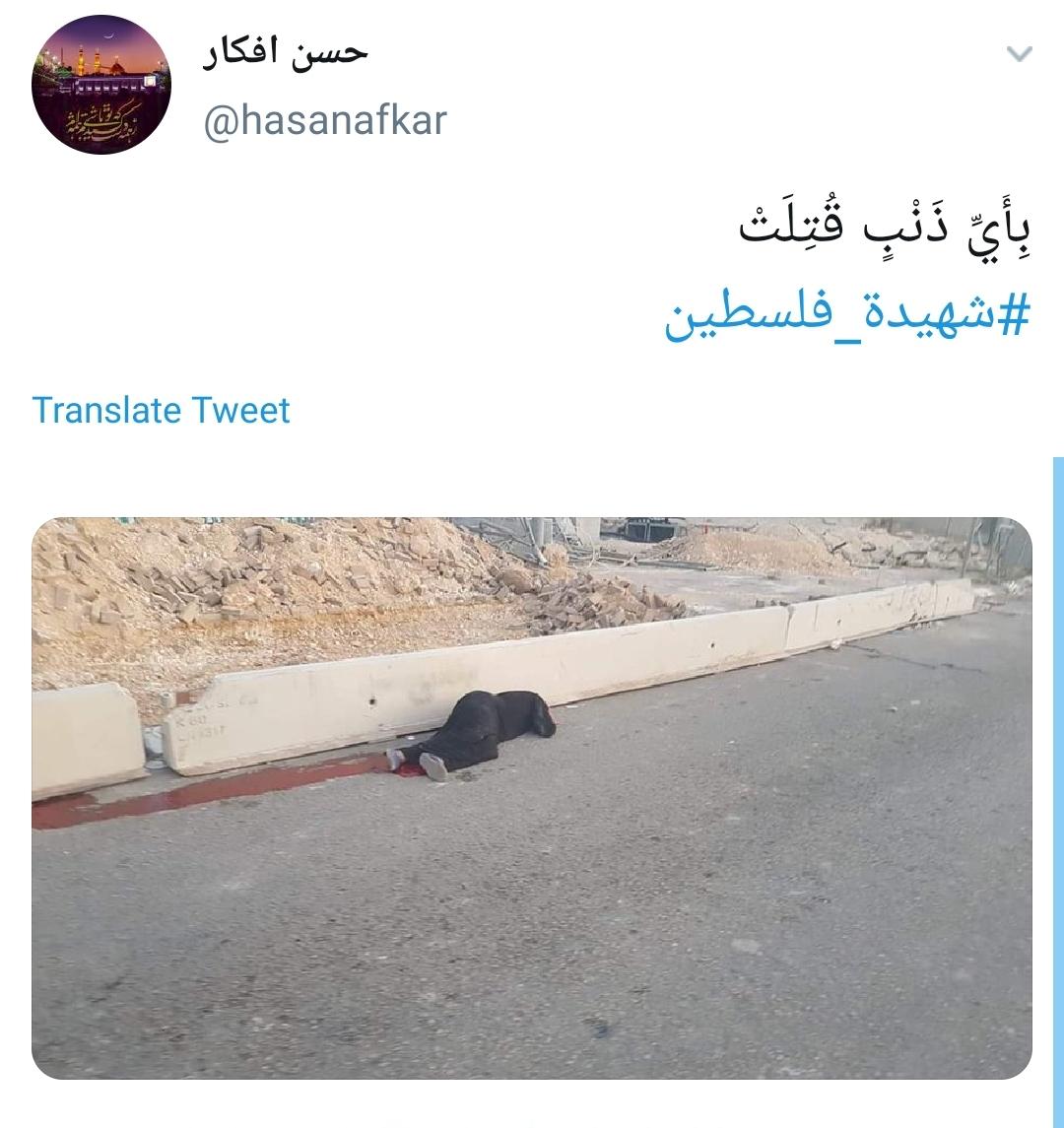 #شهیده_فلسطین /