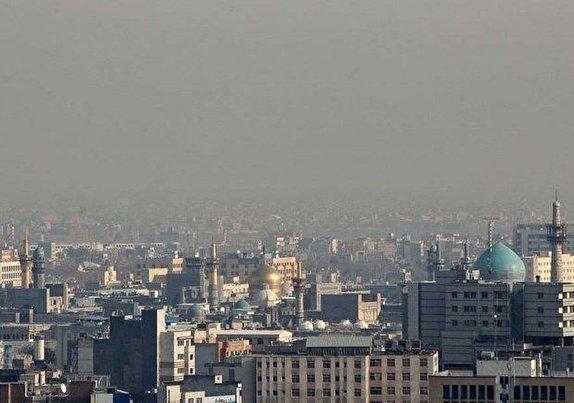 وضعیت هشدار هوای مشهد برای دومین روز متوالی