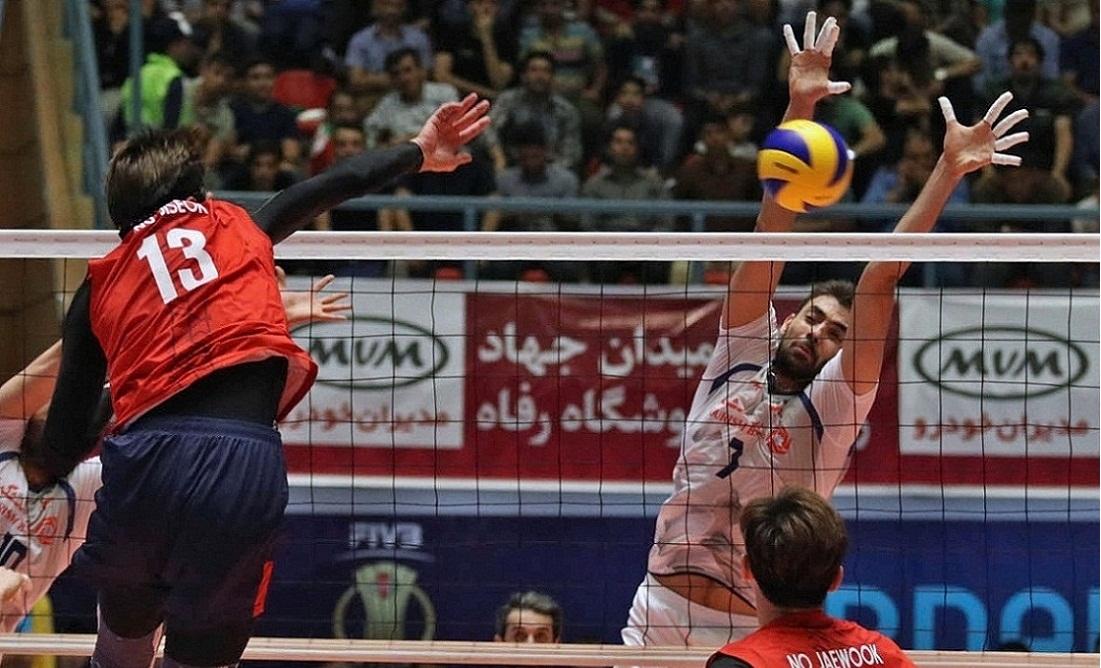 تیم ملی والیبال ایران ۳ - کرهجنوبی یک/ سروقامتان با غلبه بر چشم بادامیها به فینال رسیدند