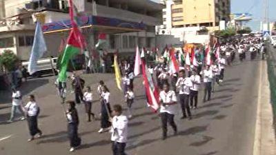 راهپیمایی نمادین در خیابانهای بیروت به یاد شهدای صبرا و شتیلا + فیلم