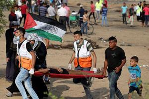۴۰ مجروح در حمله نظامیان صهیونیست به راهپیمایی بازگشت در غزه