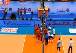 لحظه درگیری میلاد عبادیپور با بازیکن والیبال کره جنوبی + فیلم