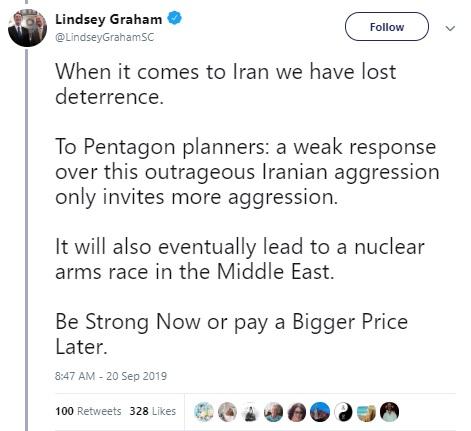 سناتور آمریکایی: در مواجهه با ایران بازدارندگی خود را از دست دادهایم