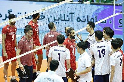 والیبال قهرمانی آسیا/ ایران ۳ - کره جنوبی ۱