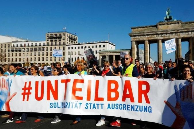 تظاهرات هزاران نفری ضد نژادپرستی در آلمان