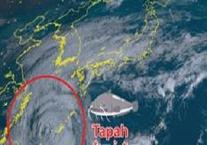 توفان «تاپا» جنوب غرب ژاپن را در تاریکی فرو برد