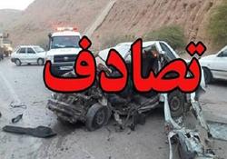 تصادف مرگبار تریلی با مینیبوس در کرند/ ۱۳ نفر در آتش سوختند+ تصاویر