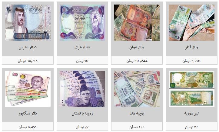 جزئیات نرخ ارز در ۸۹/۶/۳۰/ دلار ۱۱ هزار و ۴۴۰ تومان