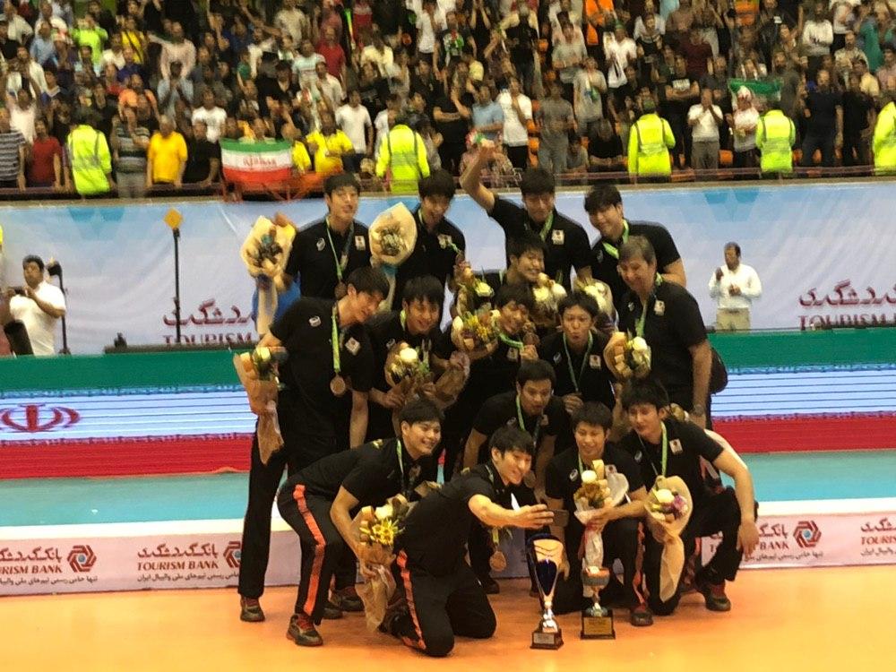 مراسم اهدای مدال مسابقات والیبال قهرمانی آسیا + تصاویر