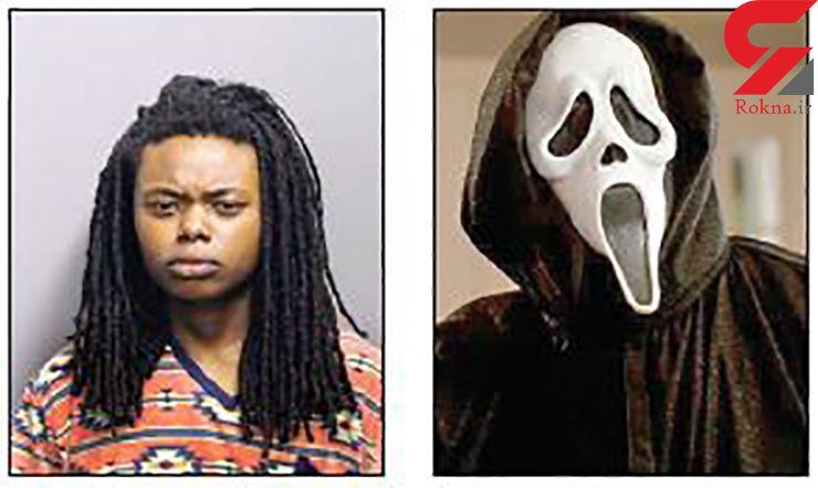 زن ۲۰ ساله با ماسک شخصیت منفی فیلم مشهور قاتل شد+ عکس