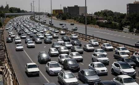 ترافیک سنگین در برخی از محورهای مواصلاتی استان زنجان