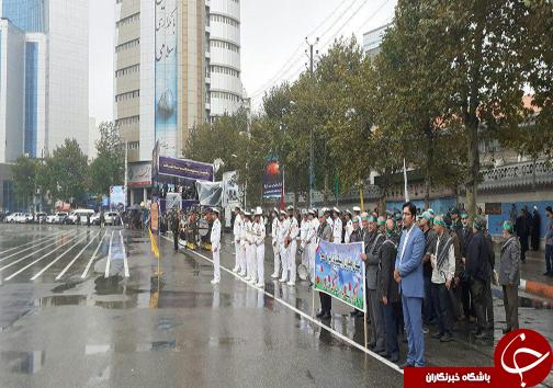 برگزاری رژه مشترک نیروهای مسلح در مازندران + تصاویر