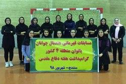 تیم هندبال دختران کردستان نایب قهرمان شد