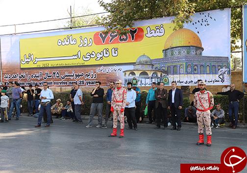 نمایش اقتدار نظام با رژه نیروهای مسلح در فارس