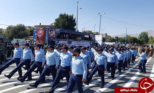 مراسم رژه هفته دفاع مقدس در همدان حسینی شد+ عکس