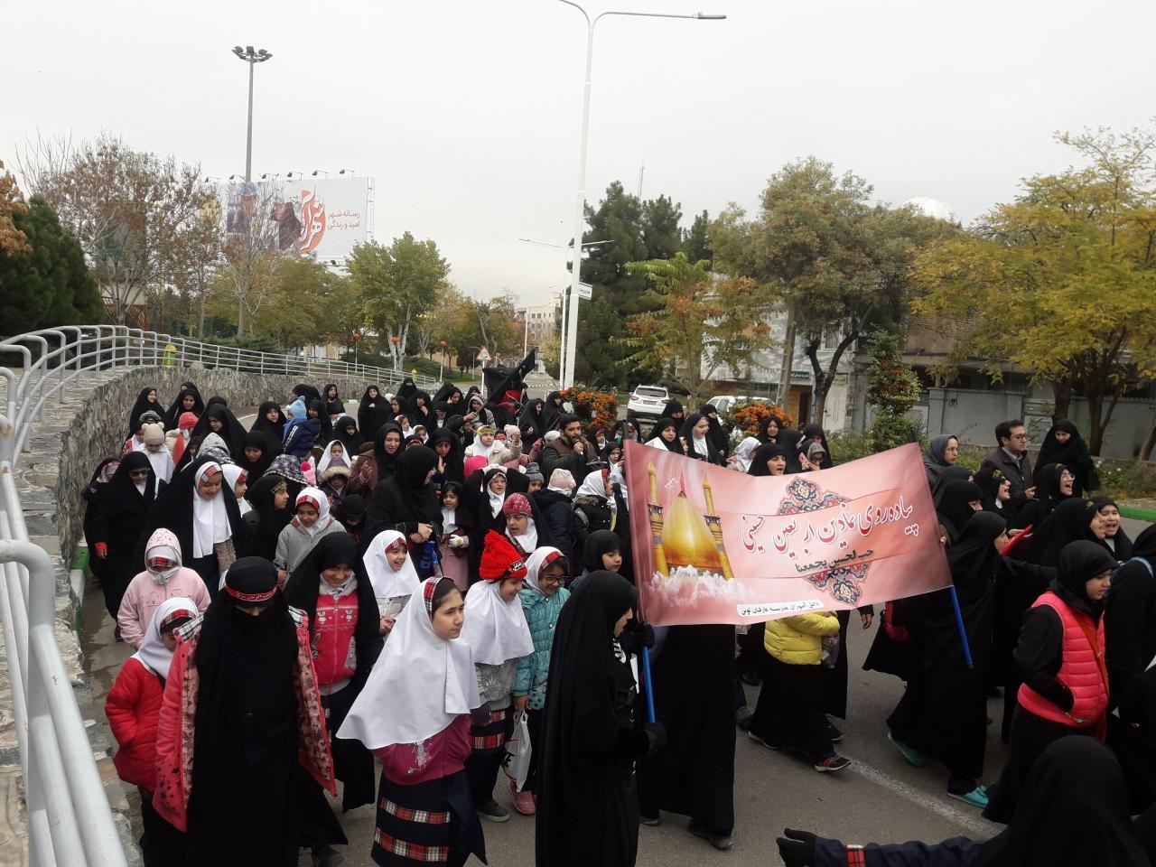برگزاری پیاده روی نمادین اربعین در رفسنجان