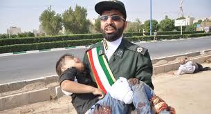 تصویری تکان دهنده از کوچکترین شهید حادثه تروریستی اهواز